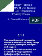 ib bio chemistry of life