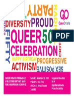 Queer Ontario's Queer Celebration Fundraiser Poster