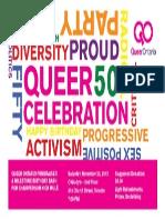 Queer Ontario's Queer Celebration Fundraiser Poster