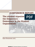 The student organisation in the Democracy – Democracy in the Student Organisation