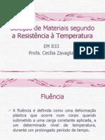 Seleção de Materiais segundo a Resistência à Temperatura