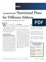 Ath Plans for Athletes