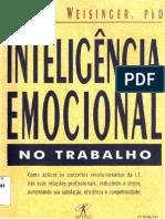 Inteligencia Emocional No Trabalho - Livro - Hendrie Weisinger