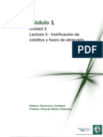 Lectura 3 M1- Unidad 3-Verificación de créditos y fuero de atracción modificado
