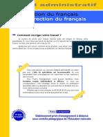 Correction Francais Adjoint Administratif
