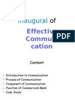 Inaugural of Effective Communi Cation