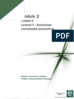 Lectura 5 M2 - Unidad 5-Soluciones Concursales Preventivas