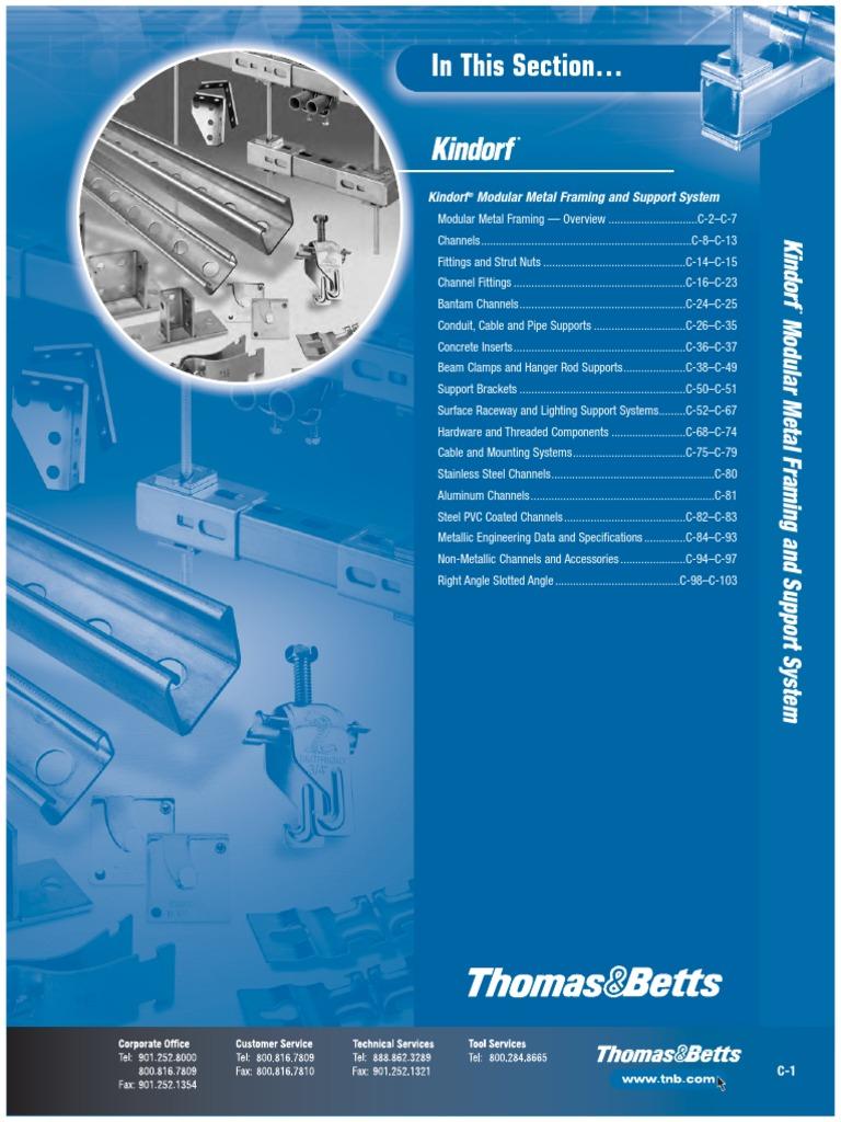 Kindorf C 200 2 Galv-Krom Thomas Betts Steel Universal Straps 10 Per Order R