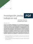 Investigación, pedagogía y Trabajo en Red