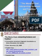 Year of Faith - Dei Verbum