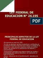 Ley Federal de Educacion