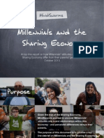 Millennials And the Sharing Economy