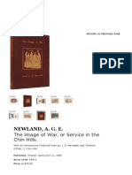 The Image of War, Or Service in the Chin Hills. - NEWLAND, A. G. E