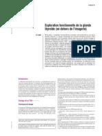 Exploration fonctionnelle de la glande thyroïde (en dehors d