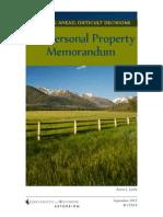 Personal Property Memorandum