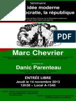 Affiche Marc Chevrier
