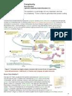 COMPLEXIDADE GENOMAS Nature Education Numero de Genes Em Algumas Especies
