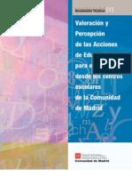 Valoración y Percepción de las Acciones de EPD en la Comunidad de Madrid