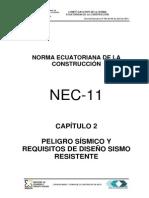 NEC2011-CAP.2-PELIGRO SISMICO Y REQUISITOS DE DISEÑO SISMO RESISTENTE-021412