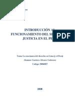 Pucp - Introduccion Al Funcionamiento Del Sistema de Justicia en El Peru