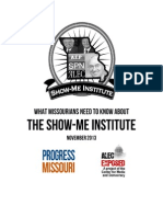 What Missourians Need to Know About the Show Me Institute