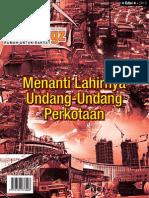 HUDmagz. Majalah Perumahan, Infrastruktur dan Perkotaan. Edisi 4 Tahun 2013. MENANTI LAHIRNYA UNDANG UNDANG PERKOTAAN