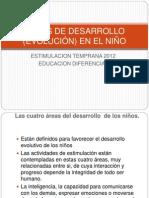 AREAS DE DESARROLLO EN EL NIÑO