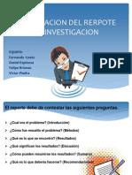 Elaboracion Del Rerpote de Investigacion