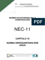 Nec2011 Cap.16 Norma Hidrosanitaria Nhe Agua 021412