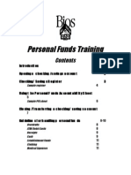 Personal Funds Training