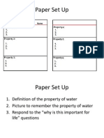 properties of water notes