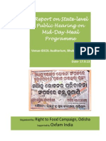 Report of State level Public Hearing on Mid-day-Meal Programme in Odisha