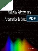 Manual de Practicas Para Fundamentos de Espectroscopia