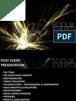 Bijoux  Event Management Post Presentation