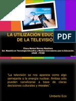 LA UTILIZACION EDUCATIVA DE LA TELEVISIÓN