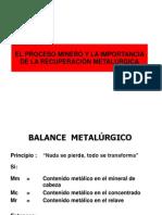 Tratamiento metalúrgico+valorizacionconcentrado