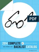 2014 Chronicle Books Backlist
