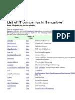 List of IT Comp