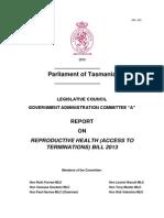 Reproductive Health Bill report