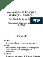 Tecnologias de Energia e Mudanças Climáticas