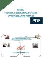 Tema 1, Teoria Organizacional y Teoria Gerencial
