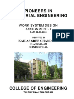 Pioneers in Industrial Engineering