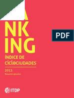 Ranking Ciclociudades 2013