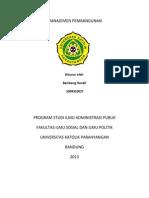 Manajemen Pembanguna z