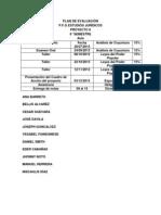 PLAN DE EVALUACIÓN 6° semestre 2013 II