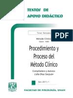 Procedimiento y Proceso del M+®todo Cl+¡nico - -Lidia D+¡az Sanju+ín - TAD - 3-¦ Sem