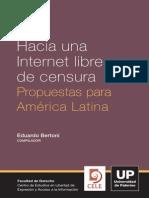 Internet Libre de Censura Libro
