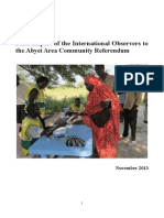 Abyei Referendum International Observers Final Report