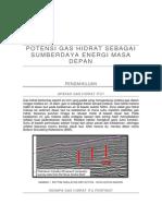 Potensi Gas Hidrat sebagai sumber energi