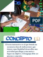 texto instructivo para niños